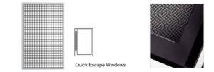 security quick escape windows supplier
